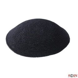 Knitted Kippot-Black-Picture