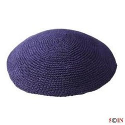 Knitted Kippot-Navy-Picture