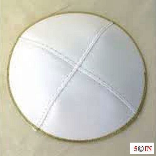 Leather- White with Silver Trim-Picture
