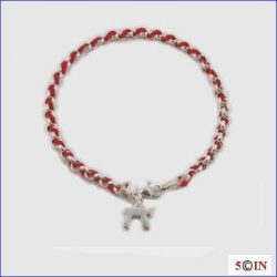 "AMULETTE AMULET BRINGS GOOD LUCK, PROTECTS AND GUARDS FROM HARM, EVIL EYE. 7"" Sterling Silver RED KABBALAH KABALA NEW AGE SPIRITUAL BENDEL BRACELET WITH CHAI. THIS ITEM MAKES A GREAT ACCESSORY, GIFT AND A GOOD LUCK CHARM WHICH IS FUN and FASHIONABLE."