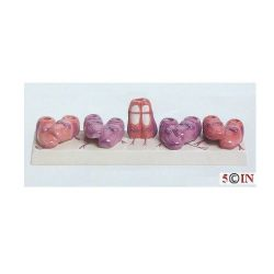 """Ballet Shoes"" Children Ceramic Menorah. 9.75"" x 2.75"" It is a perfect Gift to your Favorite Ballerina"