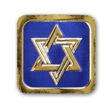BLUE & GOLD STAR OF DAVID SEAL