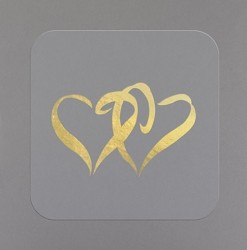 Gold Heart Seals