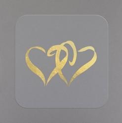 Gold Heart Seals