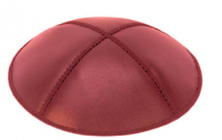 red-leather-kippah
