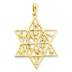 Judaica-Jewelry-14K-Yellow-Gold-Star-of-David-12-Tribes-Pendant-B00K2LPAG6