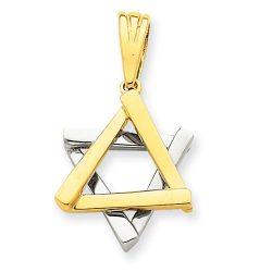 Judaica-Jewelry-14K-Yellow-White-Gold-Two-Tone-Star-of-David-Charm-Pendant-B00K2M2PTK