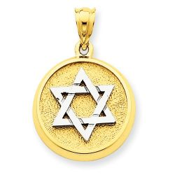 Judaica-Jewelry-14K-Yellow-White-Gold-Two-Tone-Star-of-David-Disc-Pendant-Charm-B00K2LW42O