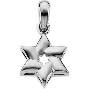Judaica jewelry sterling silver star of david pendant mazaltovjudaica judaica jewelry sterling silver star of david pendant aloadofball Image collections