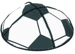 Leather-Sports-Kippot-kippah-kipa-kipah-yarmulke-yarmulka-head-covering-Soccer-B009XM70RC