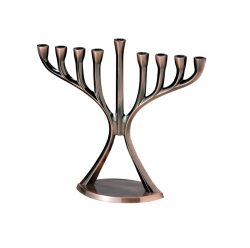 Rite-Lite-Judaica-Chrome-Plated-Aluminum-Modern-Menorah-Antique-Copper-Finish-B005IS55R2