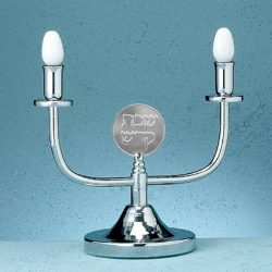 Silverplated-Shabbat-Electric-Candlestick-Holder-Shabbat-in-Hebrew-on-Top-B006L6YBU2