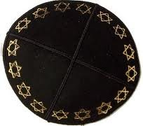 Suede-Kippot-kippah-kipa-kipah-yarmulke-yarmulka-head-covering-Star-of-David-Rim-Black-Gold-B00CRTB0YM