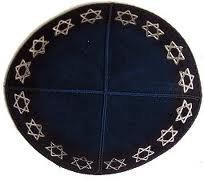 Suede-Kippot-kippah-kipa-kipah-yarmulke-yarmulka-head-covering-Star-of-David-Rim-Black-Silver-B00CRSS7JY